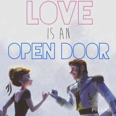Frozen Is An Open Door Lyrics by 1000 Images About And Hans On