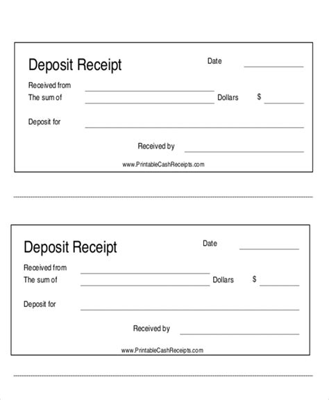receipt of paperwork template 7 payment receipt forms sle templates