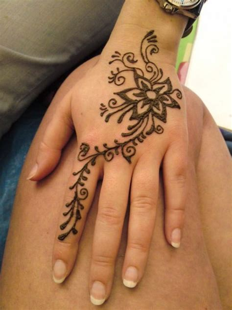 floral henna tattoo design on hand tattoos book 65 000