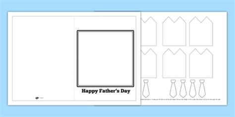 card insert template ks1 3d shirt and tie fathers day card card template writing aid