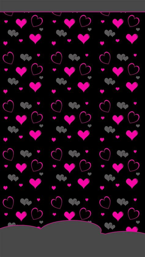 pink  black hearts wallpapers black wallpaper