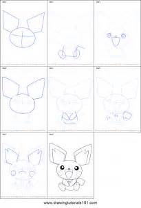 how to do doodle step by step how to draw pichu from printable step by step
