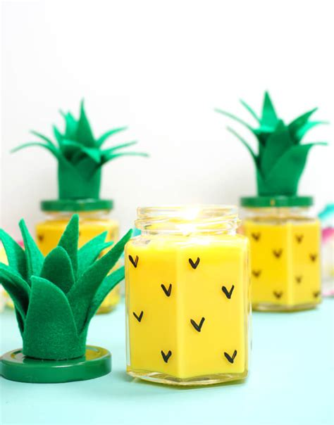 diy easy learn to make this pretty diy pineapple candles free