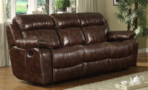 homelegance marille reclining sofa with center drop