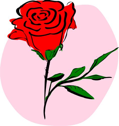 red rose clip art at clker com vector clip art online