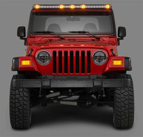 wrangler tj led lights quadratec j5 led light bar kit with windshield mounting