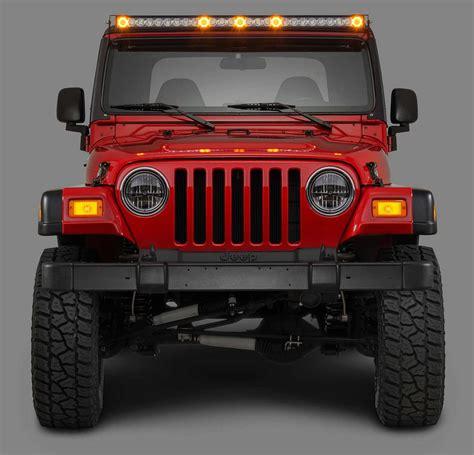 jeep tj windshield lights quadratec j5 led light bar kit with windshield mounting