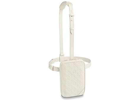 louis vuitton utility side bag monogram powder white