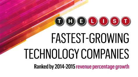 Usf Mba Ranking 2014 by The List Fastest Growing Technology Companies Percent