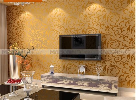 silver gold fashion brief pvc wallpaper tv sofa living