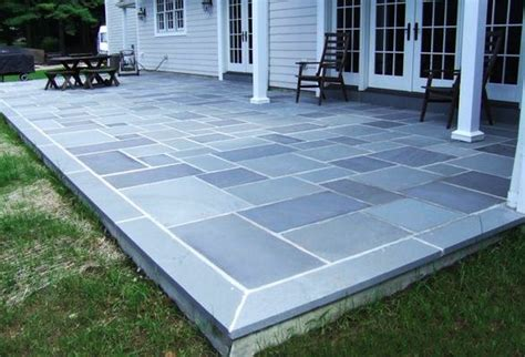 concrete patio with bluestone border google search exterior pinterest gardens colors