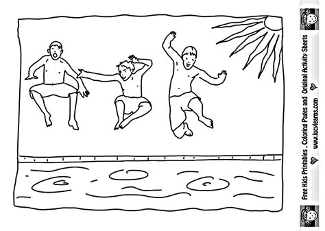 Summer Pool Coloring Pages Download And Print For Free Pool Coloring Page
