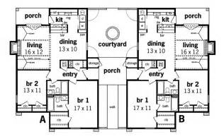 Multi Family House Plans Multi Family House Plans With Courtyard Arts