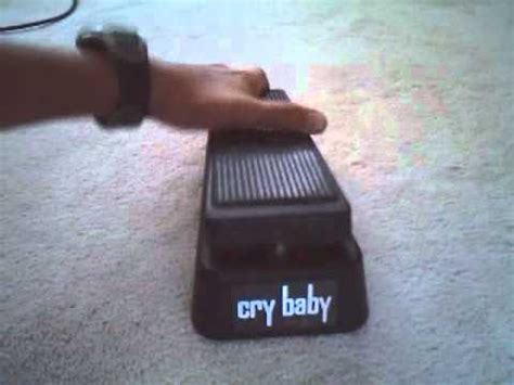 wah pedal tutorial how to use a wah pedal cry baby youtube