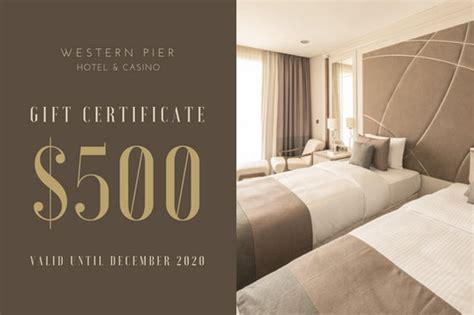 customize  hotel gift certificate templates  canva