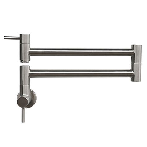 Stainless Steel Pot Filler Faucet by Geyser Gf45 B Stainless Steel Pot Filler Kitchen Faucet