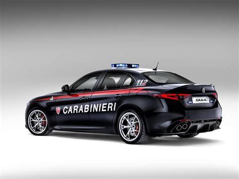new alfa romeo guilia qv joins italian carabinieri w
