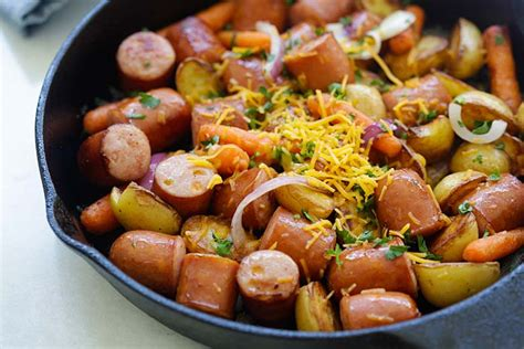 skillet sausage and potatoes easy delicious recipes