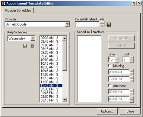 appointment setter definition appointment book setup time slots