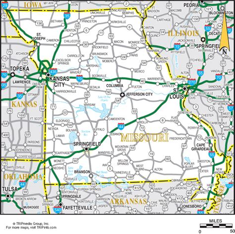 missouri road map missouri map