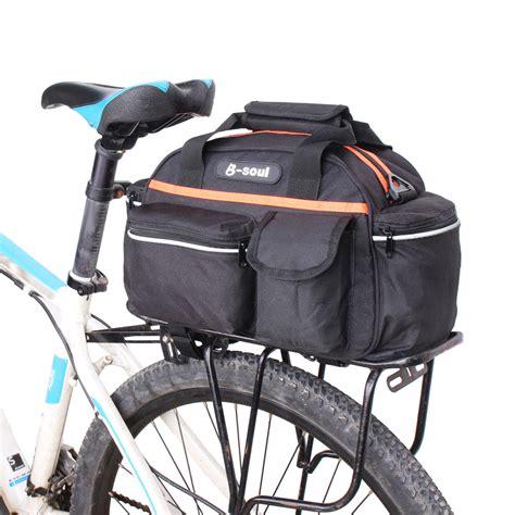 road bike waterproof 15l waterproof polyester cycling bicycle rear seat rack