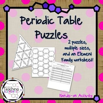 periodic table activities periodic table activities by teaching elements tpt