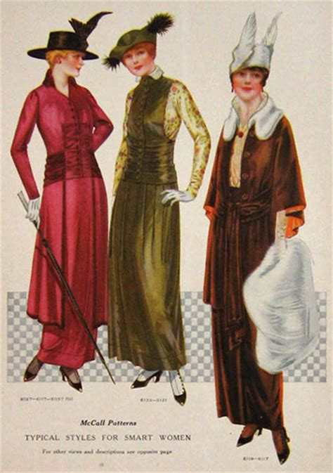 Styles Of 1914 | 1914 fashion print typical styles for smart women