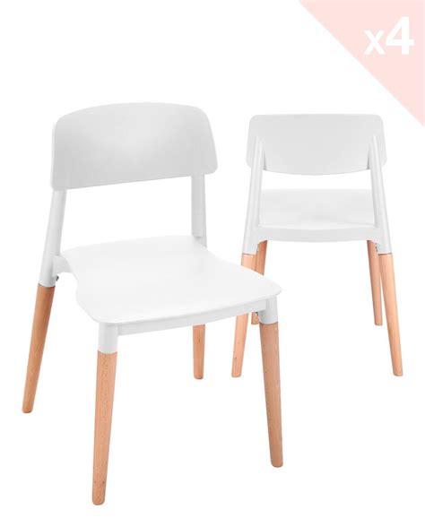 lot 4 chaises napa lot de 4 chaises cuisine design pi 233 tement h 234 tre