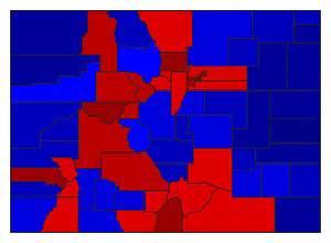 colorado voting map 2008 presidential general election results colorado