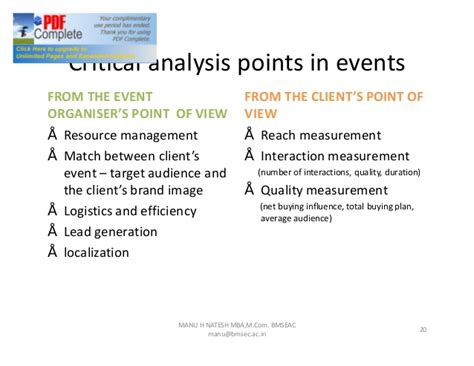 Bms Evening College Mba by Chap 1 Introduction To Event Management