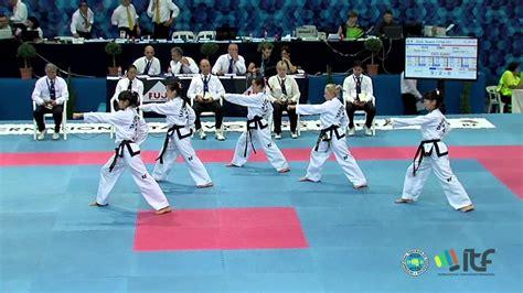 youtube taekwondo pattern 5 itf taekwon do team patterns youtube