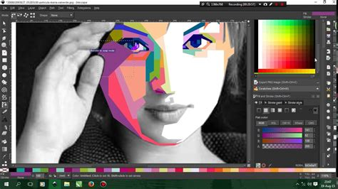 tutorial wpap dengan corel x4 youtube membuat wpap how to make wpap in inkscape youtube