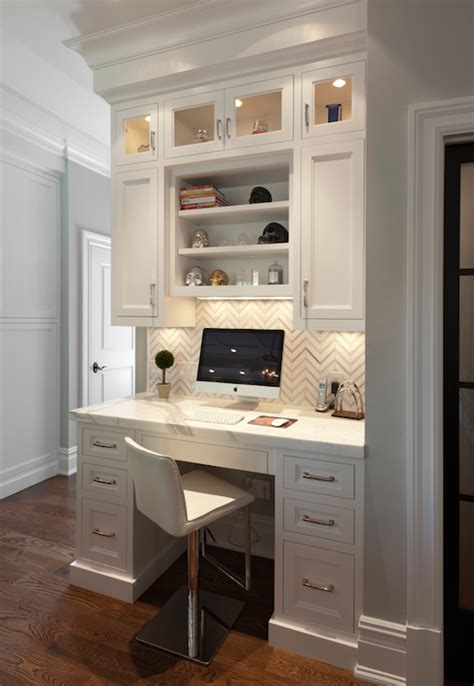 Desk With Computer Built In Built In Kitchen Desk Design Ideas