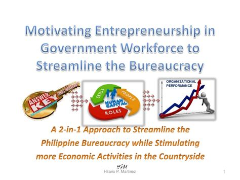 Mba Major In Entrepreneurship Philippines by Streamlining The Philippine Bureaucracy Thru