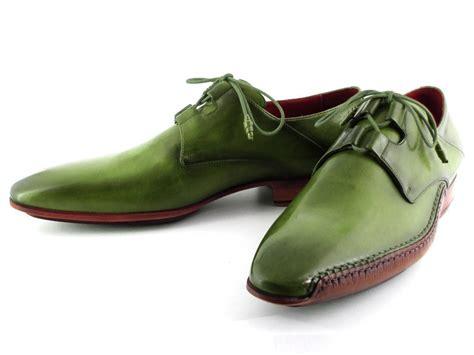 green dress shoes paul parkman s ghillie lacing side handsewn dress