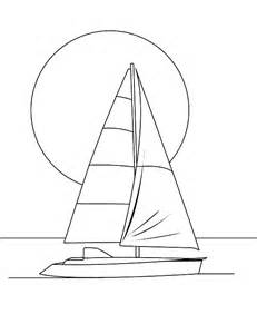 Sailboat Outline by Sailing Boat Outline Coloring Pages Batch Coloring