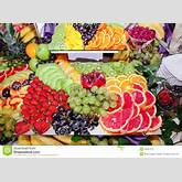 Wedding table decorations with fruits fresh well.