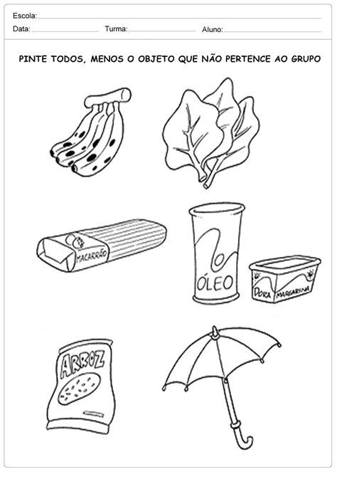 Pinte todos os alimentos - Escola Educação