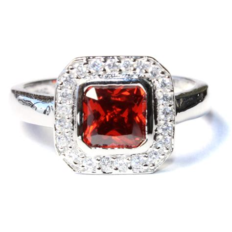 princess cut ruby promise ring promise rings