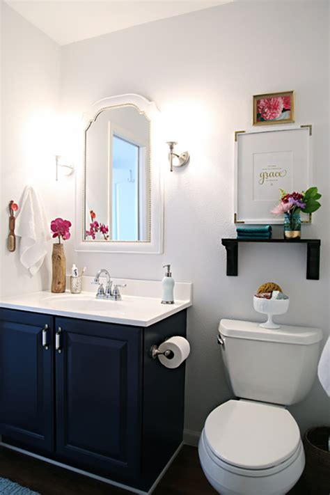 navy blue bathroom ideas decorating with navy blue by kimberly duran the oak