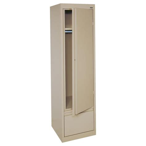 Single Door Wardrobe Closet Sandusky Single Door Wardrobe Cabinet 17 Quot X 18 Quot X 64 Quot Hawf171864 Storage Cabinets