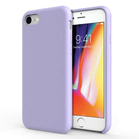 olixar iphone   soft silicon case lilac