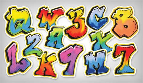 Removable Wall Sticker graffiti letter stickers stickeryou products
