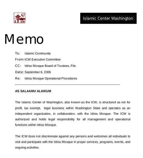 professional memo template 15 free word pdf documents