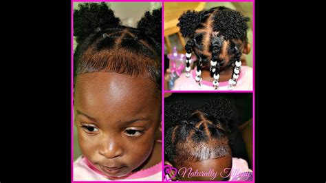 8 year old black hair dues very cute and easy style for my 1 year old type 4 hair