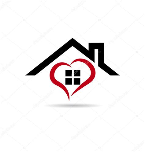 house logo design vector house and heart vector logo stock vector 169 glopphy 65553945