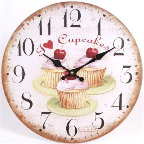 horloges murales de cuisine petits g 226 teaux aux cerises and shabby chic on