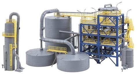 Faller Countrysite Decor Acceessories Miniature Building Ho Scale faller 130175 chemical plant kit iv