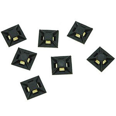 Dudukan Tempat Kabel Cord Fasteners Holder Adhesive Tie Cl ziotek zip tie mount 1 2 x 1 2 25 pack
