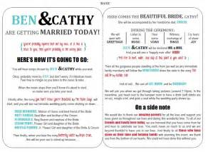 Program Templates Free by Wedding Programs On Wedding